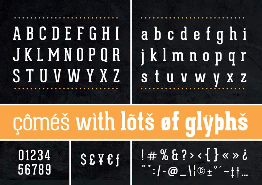 Geared font preview