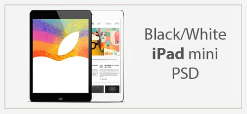 Black/White iPad Mini Mockups