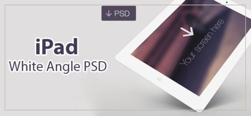 free iPad White Angle PSD by Joe Mortell