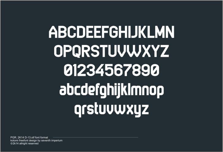 Kotomi font