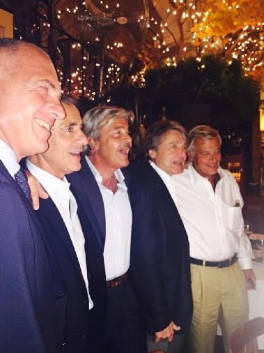 Da sinistra: Sergio Dompè, Bruno Bonetti, io, Aldo Bocciardi e Paolo Insom