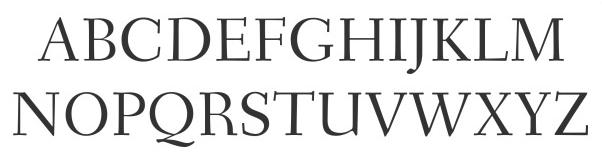 Questo è un font Serif