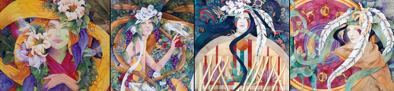 Margaretha Stramecki - Watercolors and Beaded Jewelry