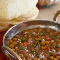 Chole Aur Bhature - Spicy Chickpeas with deep fried Indian Bread