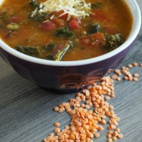Kale and Red Lentil Soup