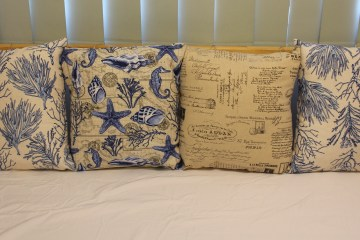 Home made pillow cushions