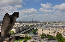 View of Paris from Notre Dame Cathedral