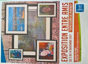 AFFICHE EXPO AMIS GALERIE