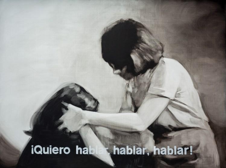 Palabras incomprendidas I. Óleo sobre tabla, 162 x 130 cm. 2015