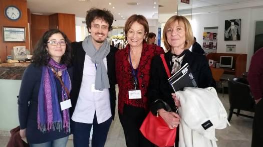 Mirna López Ortíz, Pietro Berra, María Juliana Villafañe y Laura Garavaglia.