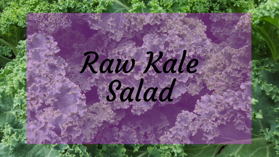 Raw Kale salad for a vegetarian meal plan