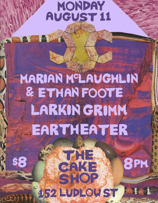 Aug. 11 @The Cake Shop