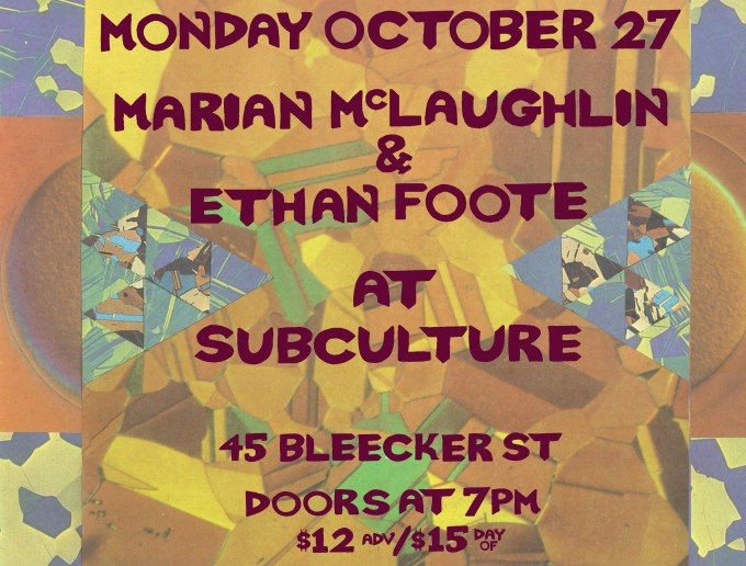 Oct. 27 @Subculture
