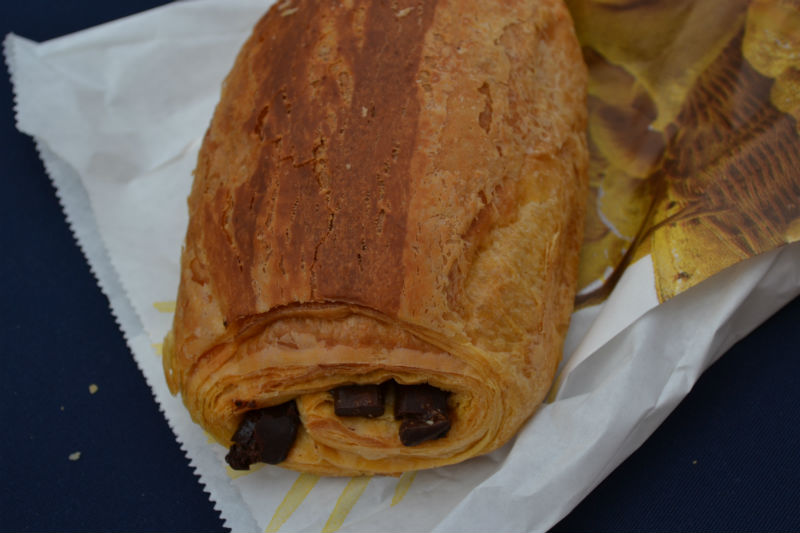 Huge pain au chocolat from a Vathy bakery