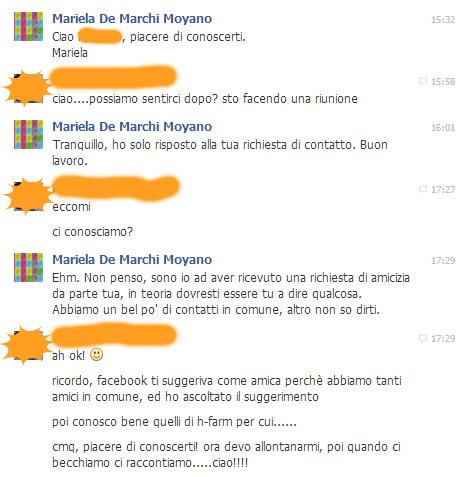 conversazione con un socialamico imbranato su facebook