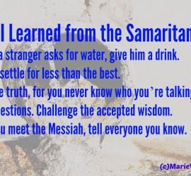 5 things I learned from Samaritan woman