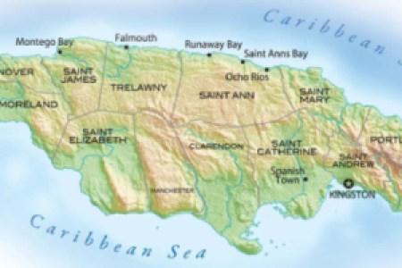 jamaica island map