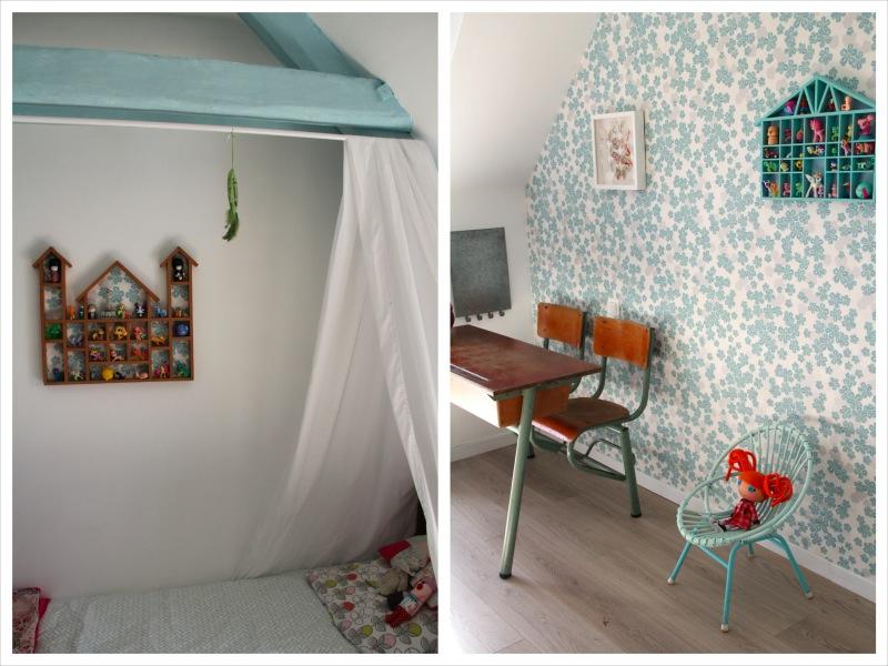 le papier peint de la chambre de fleur de sel le blog de marjoliemaman. Black Bedroom Furniture Sets. Home Design Ideas
