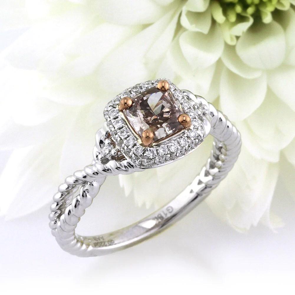 fancy color engagement rings simply sweet chocolate diamonds chocolate diamond wedding rings 1 03ct Fancy Color Radiant Cut Diamond Engagement Ring Mark Broumand