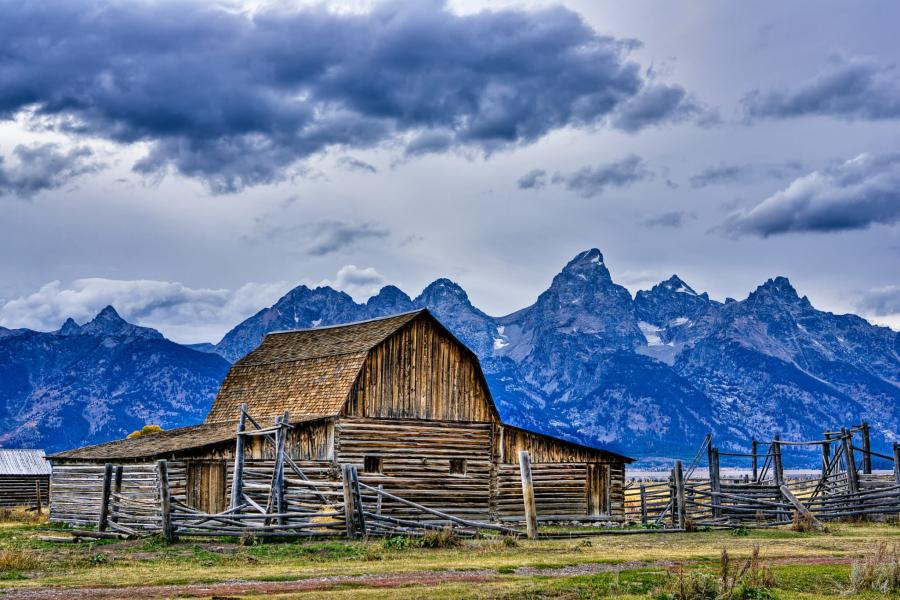 Mormon Row, Milton Barn, Grand Tetons