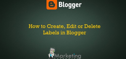 How to Create, Edit or Delete Labels in Blogspot
