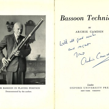 Bassoon Technique by Archie Camden