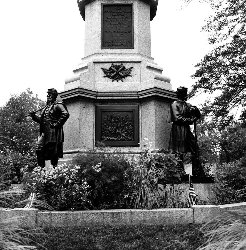 Civil War Monument, Green-Wood Cemetery