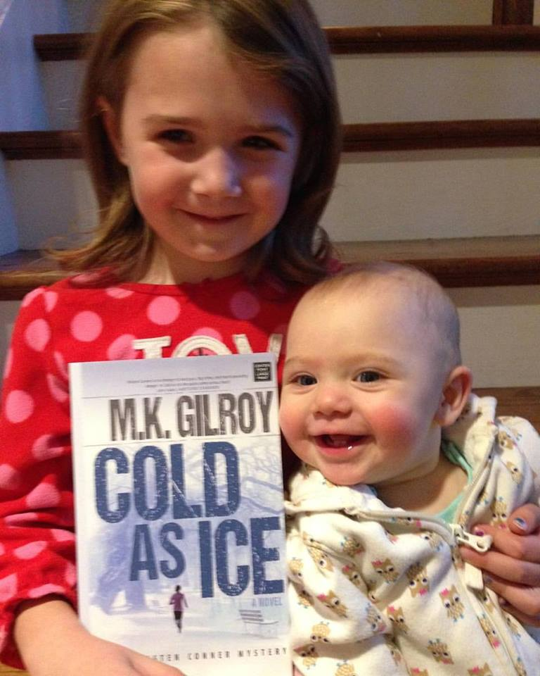 My (great!) nieces, Eden and Meadow, are excited about the Cold As Ice library edition!