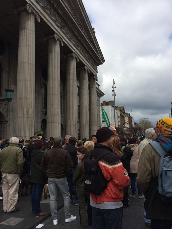 Marking the 100th anniversary of the 1916 Easter Rising on 24 April 2016...Census Day in Ireland. Photo courtesy of Sr. Cathy Cahill.