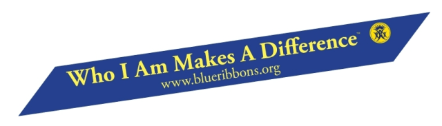 Blue Ribbon Who I am makes a difference