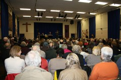 A public meeting. Photo courtesy of Lynne Featherstone http://www.flickr.com/photos/lynnefeatherstone/4408258591/