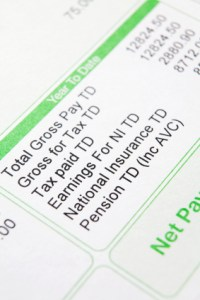 Close up of a payslip. (c) iStockphoto