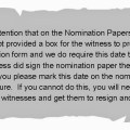 Nomination papers error