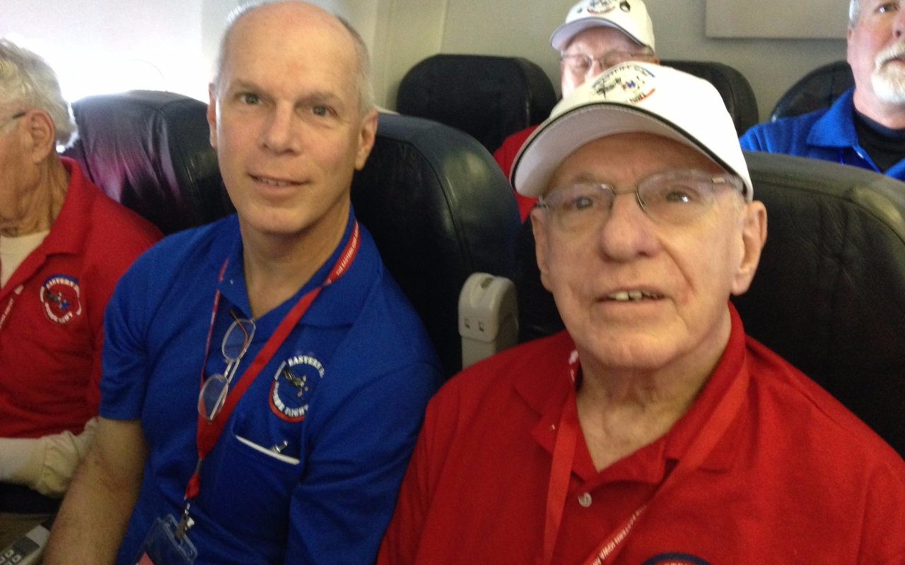 Mark Seidl on Honor Flight with Veterans