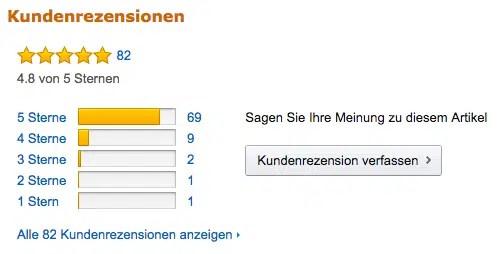 Screenshot Amazon Bewertung