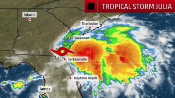 WHILE HERMINE ENDED FLORIDA'S HURRICANE DROUGHT, JULIA IS FIRST TO FORM INLAND