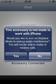 This accessory is not made to work with iPhone