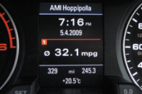 Audi AMI access to iPhone playlists (Driver Display)