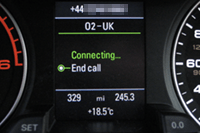 Audi telephone connection (Driver Display)
