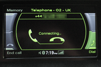 Audi telephone connection (MMI)