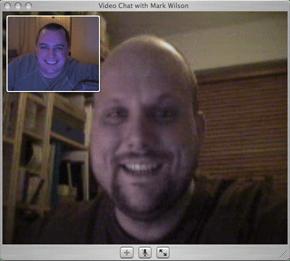 iChat AV conversation with AIM user
