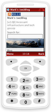 This website, viewed in a simulated mobile phone browser