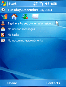 Windows Mobile 5.0 (PDA interface)