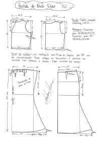 Esquema de modelagem de vestido de festa Tulipa tamanho 52.