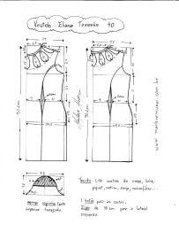 Esquema de Modelagem de Vestido Eliana tamanho 40.