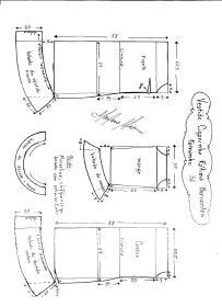 Esquema de modelagem de Vestido Ciganinha Fátima Bernardes tamanho 36.