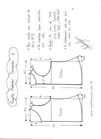 Esquema de Modelagem de regata nadador tamanho P.