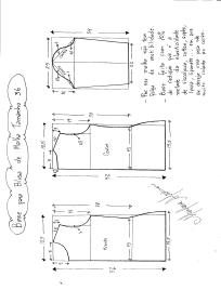 Base para blusa de malha tamanho 36.