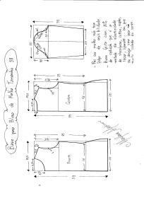 Base para blusa de malha tamanho 38.