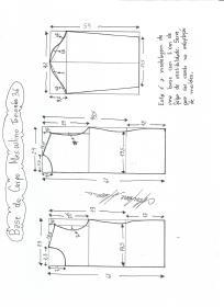 Esquema de modelagem de Base do Corpo Masculino tamanho 36.